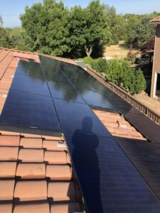 Clean solar panels in a Roseville gated community